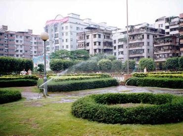 Today this park can be found where GrandmasterYip Mans house was originally in Foshan China